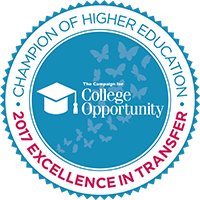 2017 Champion of Higher Education Award Seal