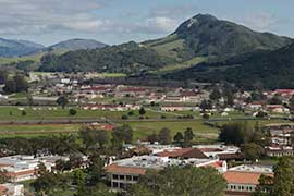 Aerial shot of SLO Campus