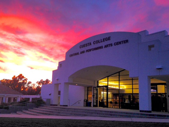 Cultural and Performing Arts Center at sunset