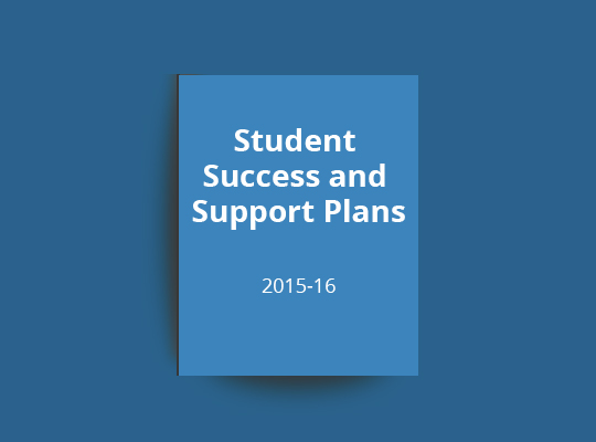 Student Success and Support Plans