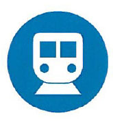 transportation icon to represent staying on the path
