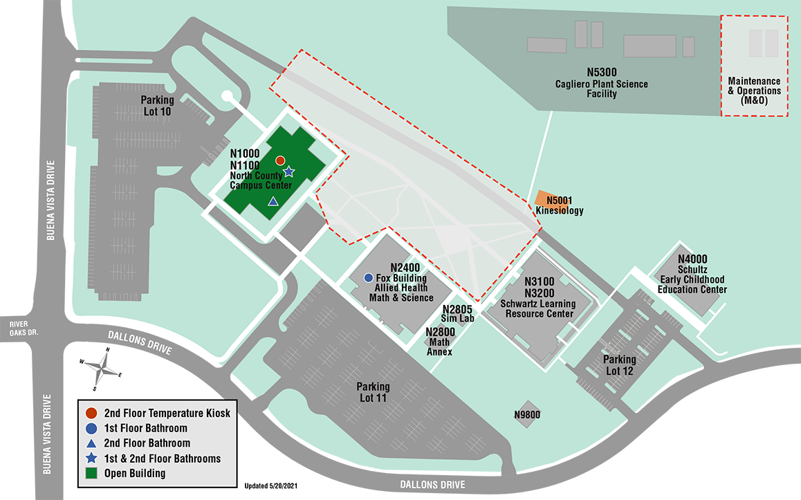 North County Campus map covid