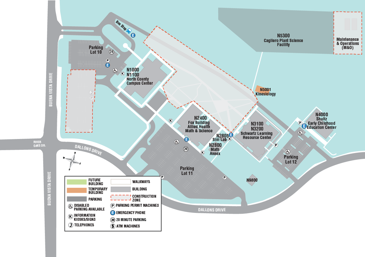 North County Campus Map
