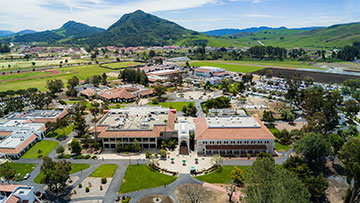 San Luis Obispo campus aerial over the top