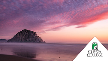 Sunset at Morro Bay rock