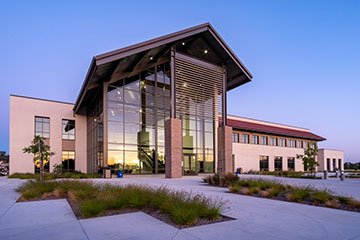 North County Campus building at dusk