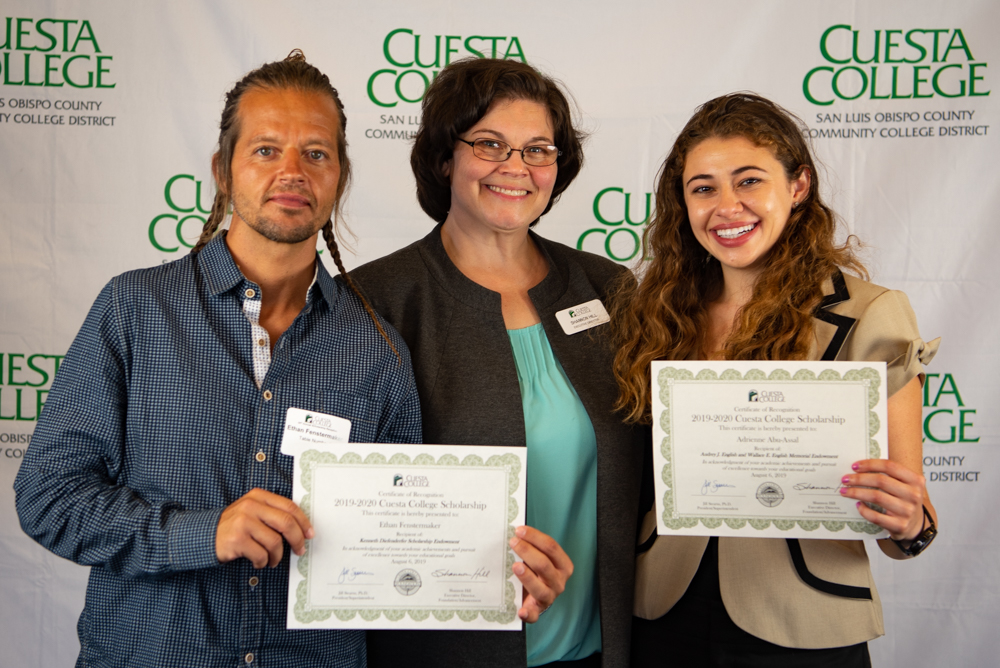 Cuesta College awarded more scholarships and more money to more students than ever before – a record-breaking 282 students received 510 scholarships totaling nearly $390K.