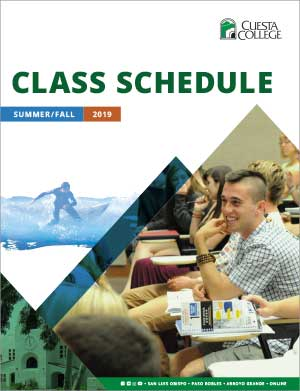 Summer and Fall 2019 class schedule