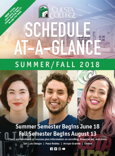 Summer/Fall 2018 Schedule at-a-glance