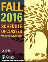 Class Schedule for 2016