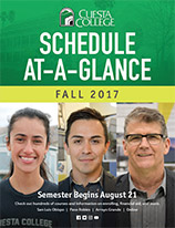 Fall 2017 at a glance class schedule