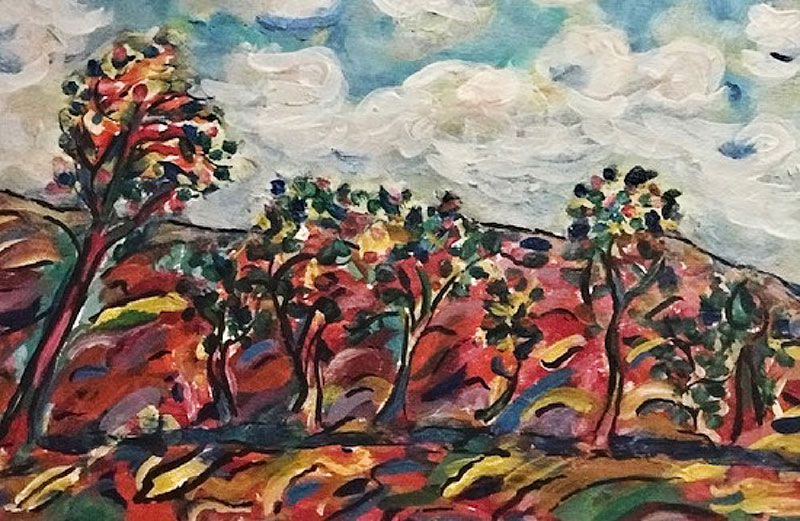 colorful leaves and trees painting