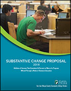 2014 SLOCCCD Substantive Change Proposal