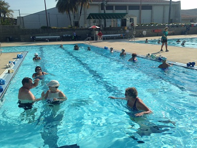Aqua Aerobics in Therapy Pool