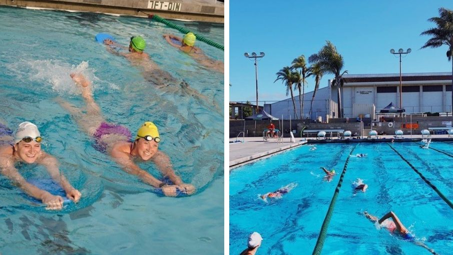 images of swimmers in pool