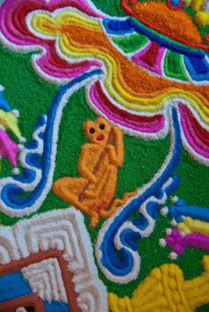 Native american sand art sand mandala cat rock art freerunsca Images