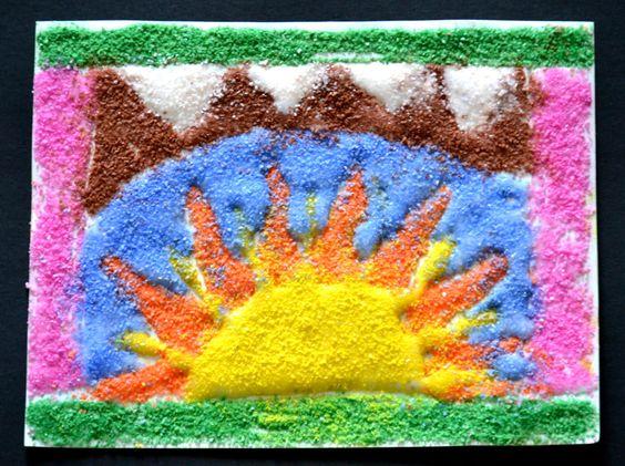 Native american sand art sand mandala cat rock art sun sand art freerunsca Images