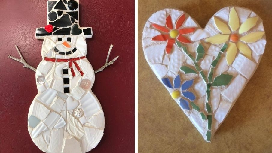 Snowman, Heart, and Wonky Tree