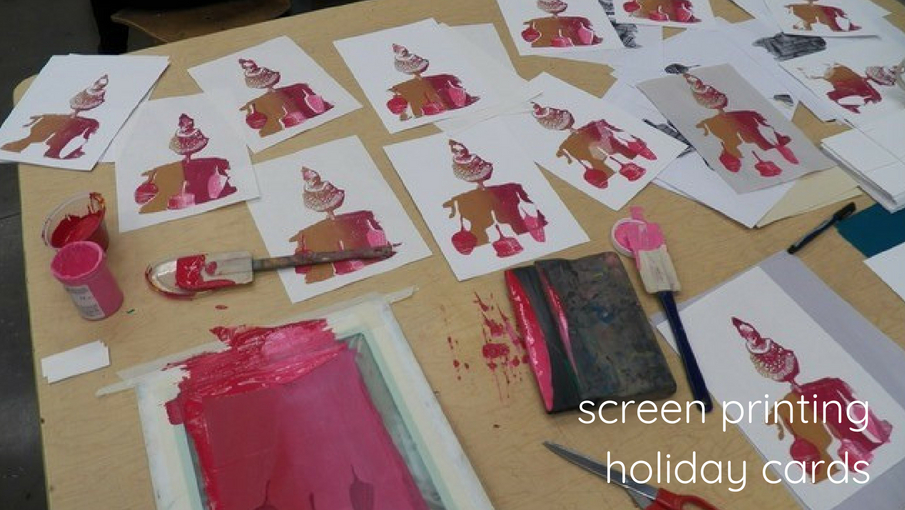 Screen Printing Holiday Cards