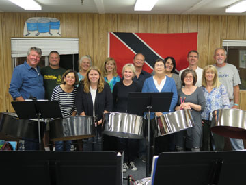 Intermediate Steel Band group photo