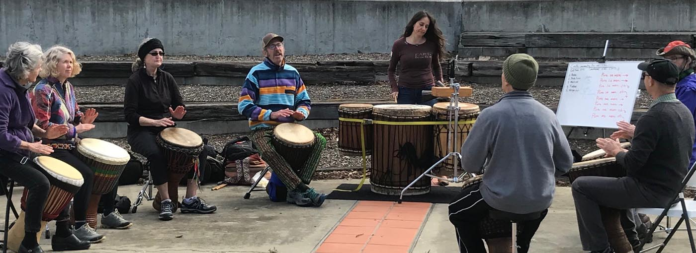 Drumming at the 2018 Community Programs Showcase