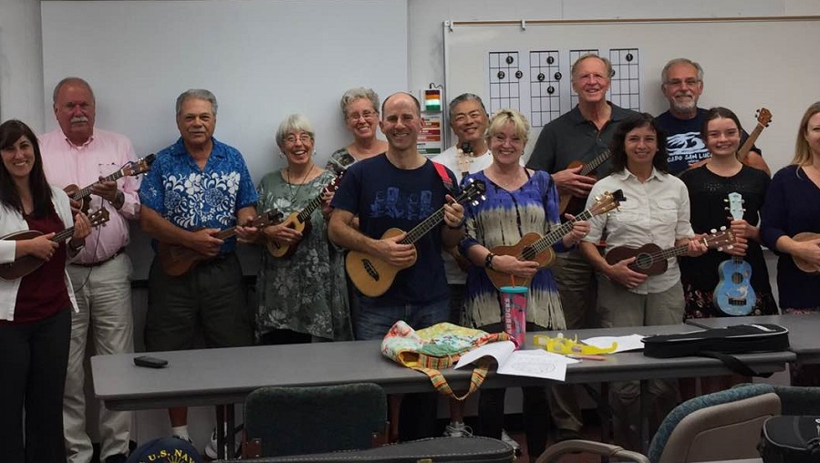 Ukulele students from June 2017