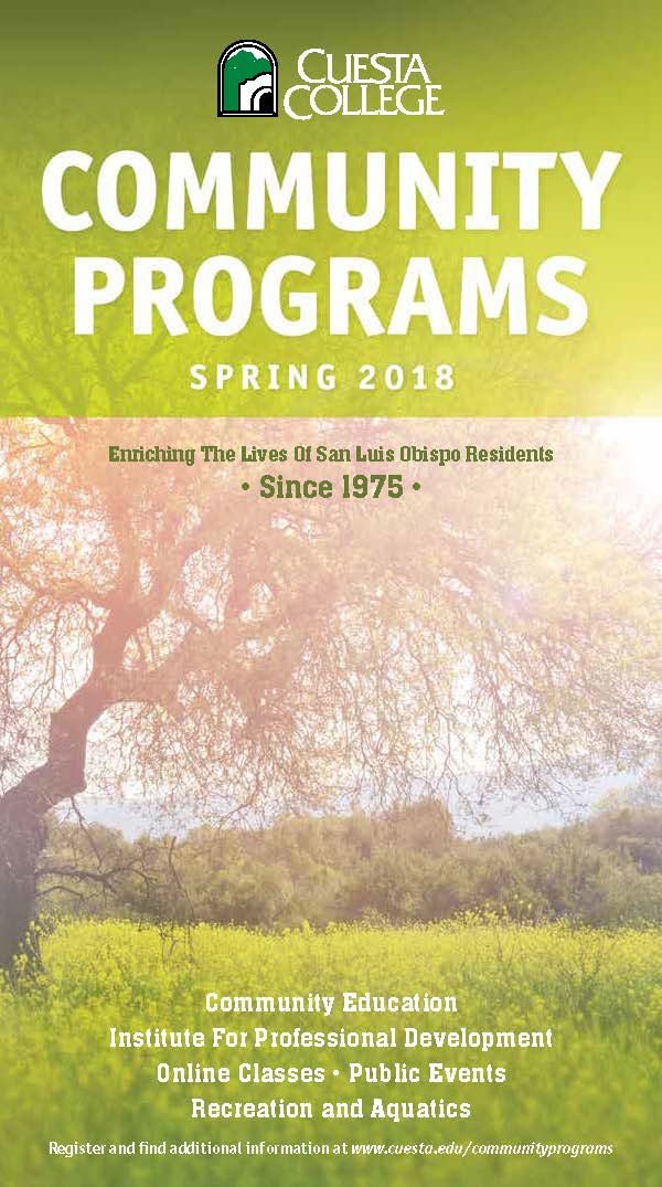 spring 2018 community programs cover