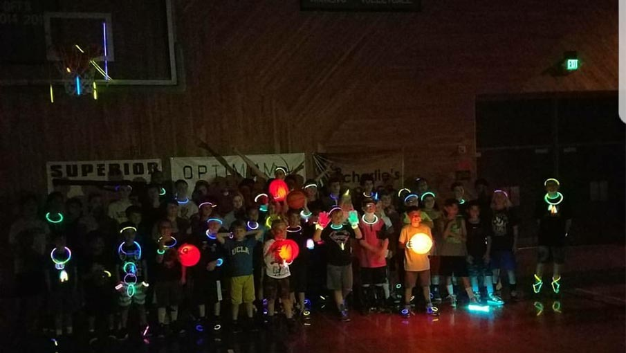 Optimum Basketball - Glow Basketball - Don't miss out on all the fun!