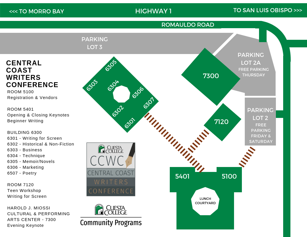 Writers Conference Map