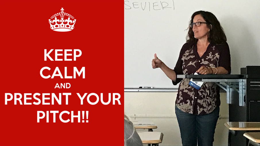 Keep Calm and Present Your Pitch