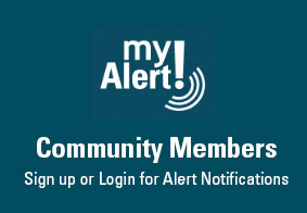 myAlert Sign up for community members