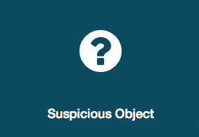 What to do if there's a suspicious object