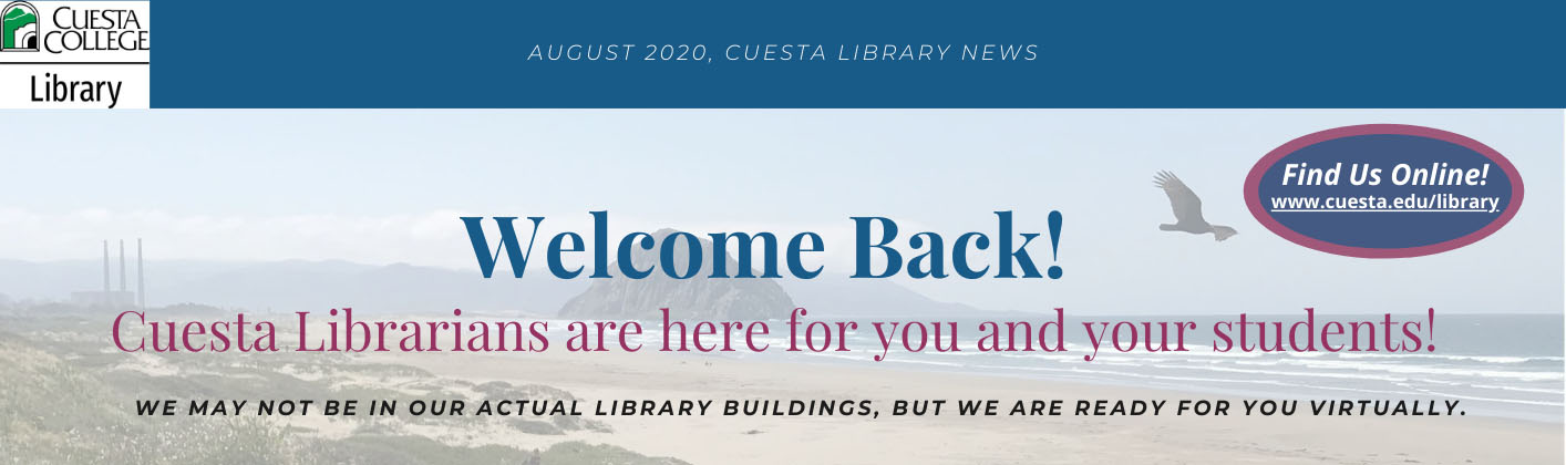 banner for fall library services for faculty