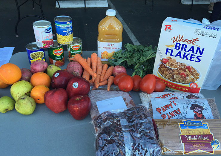 Example of food from SLO Food Bank Distribution
