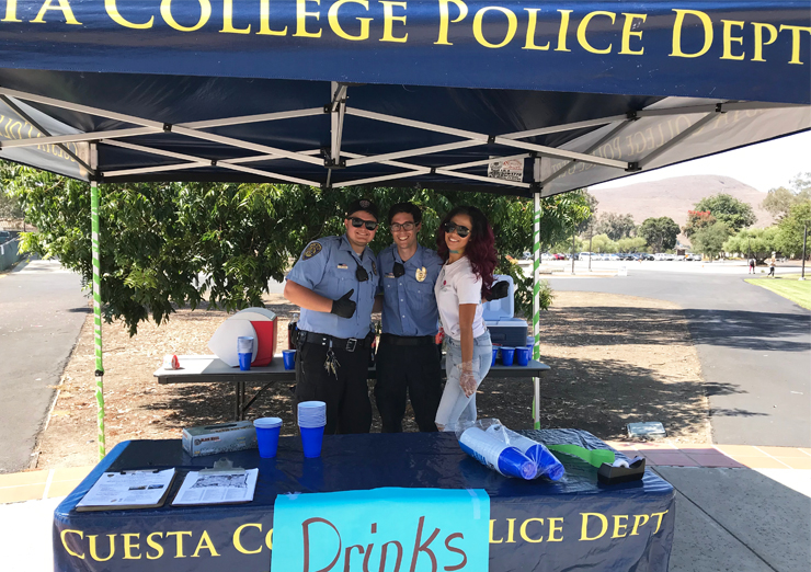 ASCC Officer with Campus Police