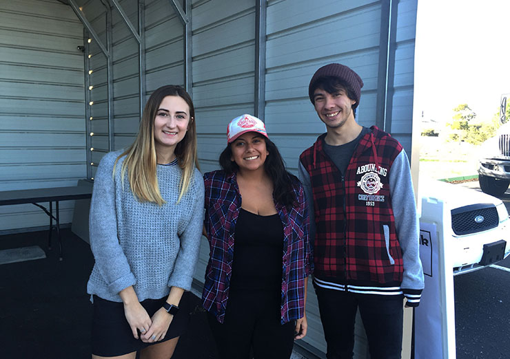 Student volunteers at SLO Food Bank Distribution