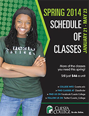 Spring 2014 class schedule cover
