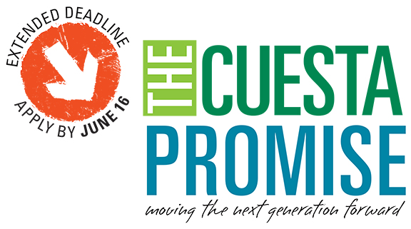 The Cuesta Promise logo and extended deadline until June 16