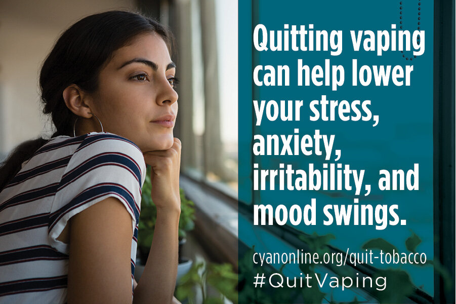 Quitting vaping can help lower stress and anxiety