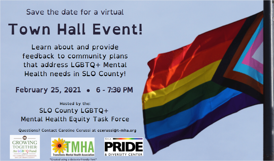 irtual LGBTQ+ Mental Health Equity Town Hall event in February.